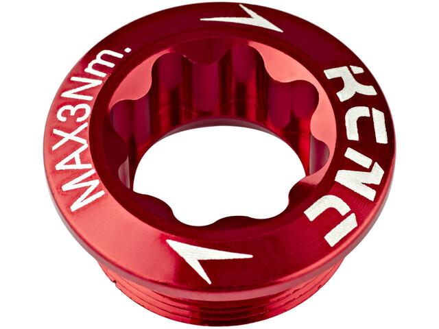 KCNC Bulloni pedivella per il braccio della manovella Shimano sinistra, red